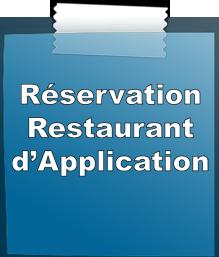 Liens vers les réservations